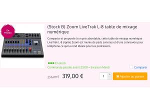 Zoom LiveTrak L-8