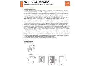 JBL Control 25