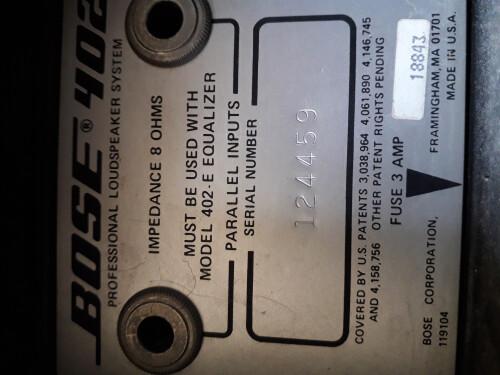 Bose 402 (81248)