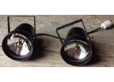 2 projecteurs / spots PAR 36 TBE, fournis avec leur lampe