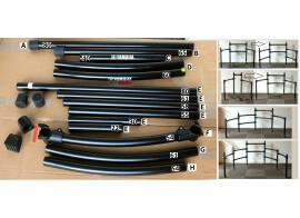Tubes et T-clamps pour rack de batterie éléctronique ROLAND ET YAMAHA TBE