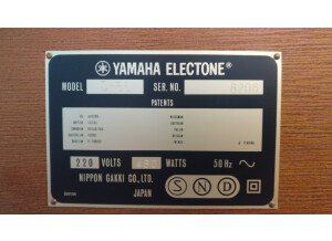 Yamaha Electone D65