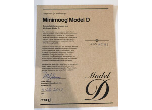 Moog Music Minimoog Model D (2016) (78011)