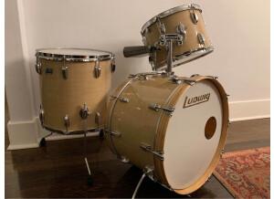 Ludwig Drums ludwig Vintage USA marble cortex badges blues olives