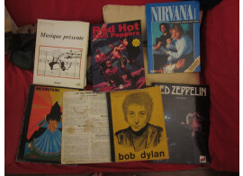 livres RHCP, Led Zepplin, Dylan, Nirvana et autres