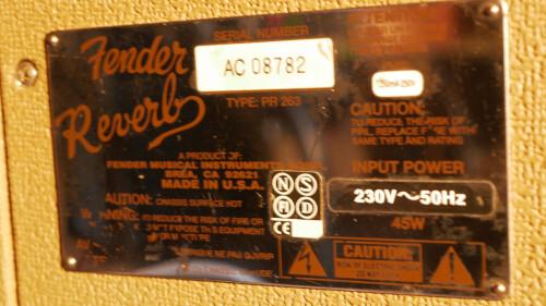Fender Vintage Reissue '63 Tube Reverb (90114)