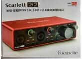 Focusrite Scarlett 2i2 3rd Gen Interface audio 2 canaux USB2.0