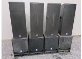 Ensemble amplifié dbTechnologies 6200W : 4x Flexsys F212 + 4x Opera SUB15