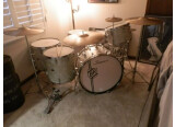 SLINGERLAND BUDDY RICH DRUM SET,WMP H/WARE,CASES,CYMBALS,CANNISTER THRONE NICE