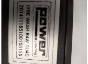 Power Lighting Lyre Wash 84W Quad