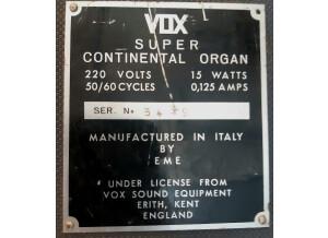 Vox Super Continental