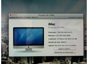 "Apple Imac Intel Quad-core i5 27"" 2,66 GHz (67241)"