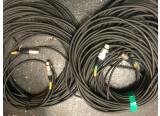 2 longs câbles xlr AES-EBU 100 ohms