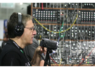 Mike Levine filming and Moog 2